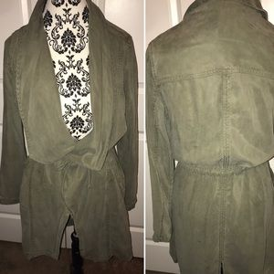 NWT MAX Jeans Size small trench Boho Wrap